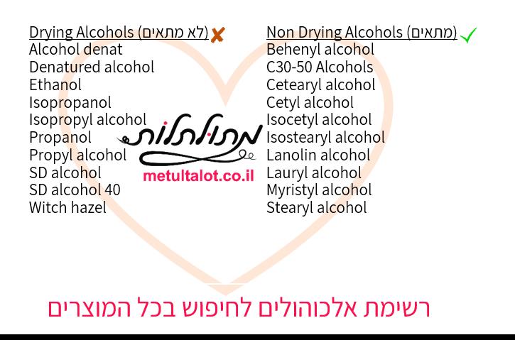רשימת אלכוהולים
